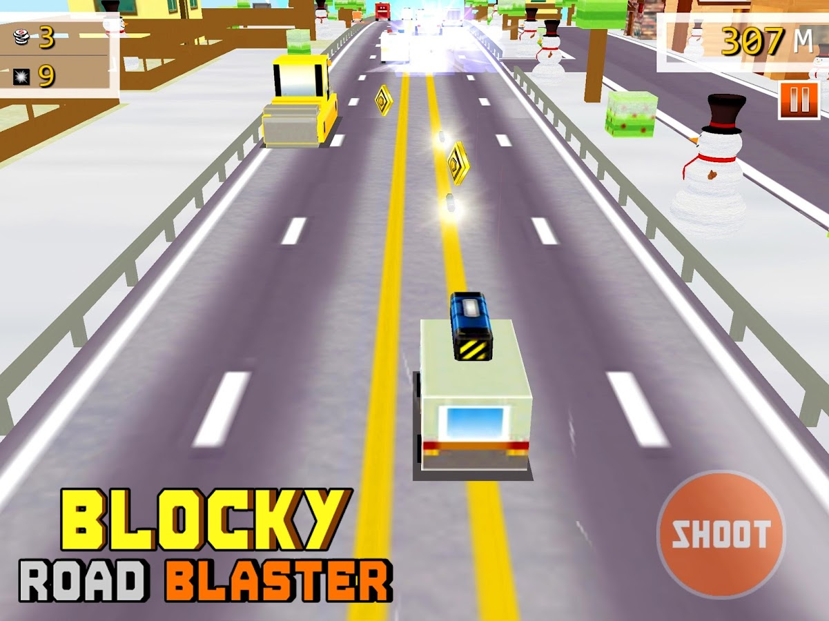 Blocky Road Blaster -Wild Race Screenshot 6