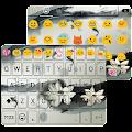 Ink Lotus Emoji Keyboard Theme APK for Bluestacks