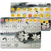 Ink Lotus Emoji Keyboard Theme