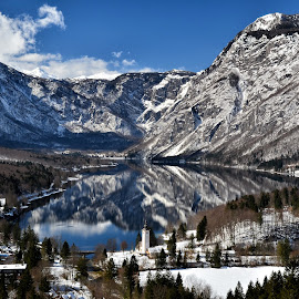 Bohinjsko jezero by Bojan Kolman - Landscapes Mountains & Hills