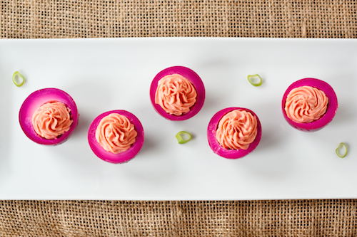 Beet-Pickled Deviled Eggs Recipe | Yummly
