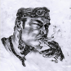 dayak by Djamal Sharief - Drawing All Drawing ( sketch )