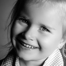 First day of school by Vix Paine - Babies & Children Child Portraits ( blackandwhite, headshot, girl, school, beauty )