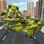 US Army Tank Transform Robot Icon