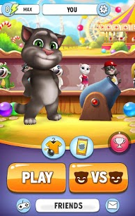 Game Talking Tom Bubble Shooter APK for Kindle