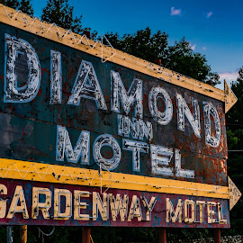 This Way  by Jeff Brown - Artistic Objects Industrial Objects ( signs, history, motel )