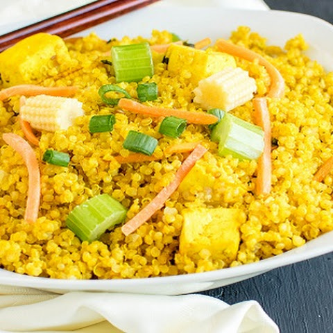 Yellow Curry Veggie Quinoa with Tofu