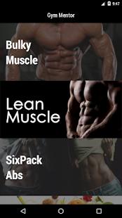 Gym Mentor Pro Fitness app screenshot for Android