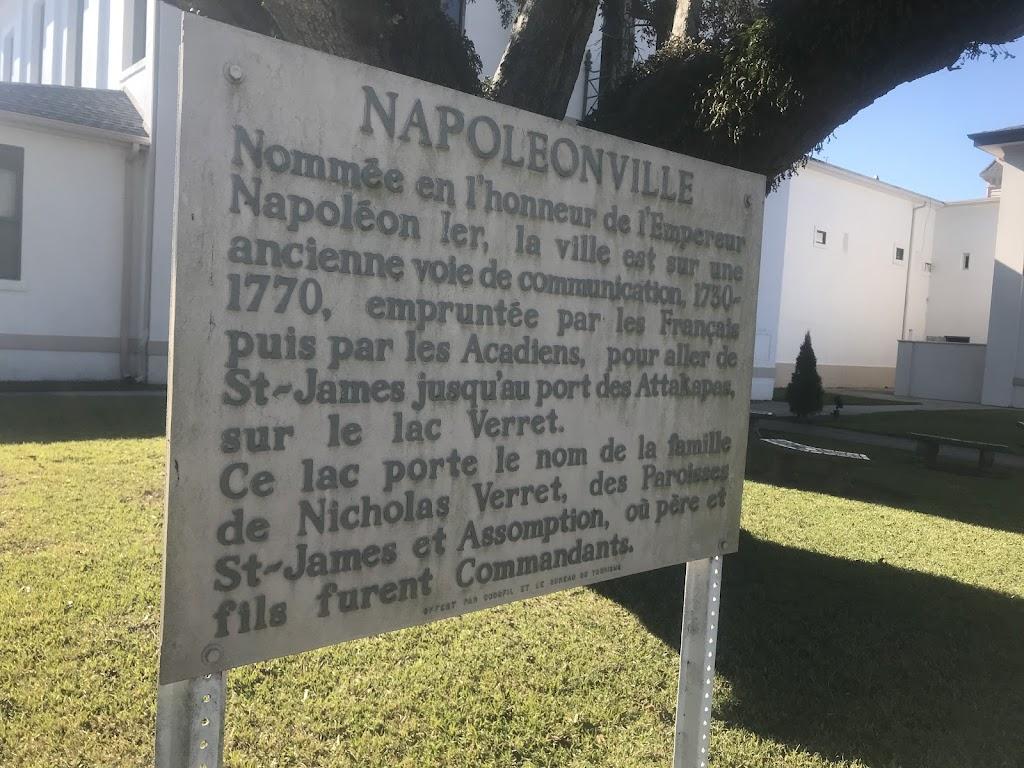 Nommée en l'honneur de l'Empereur Napoléon Ier, la ville est sur une ancienne voie de communication, 1730-1770, empruntée par les Francais puis par les Acadiens, pour aller de St-James jusqu'au port ...