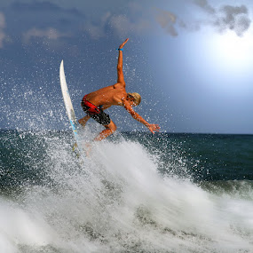 Vertigo by Alit  Apriyana - Sports & Fitness Surfing ( splash, surfer, blue, sunset, sunrise )