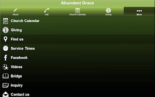 Screenshot of Abundant Grace
