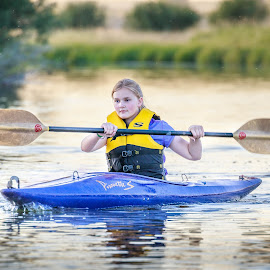 First time Kayak by Chad Roberts - Babies & Children Children Candids ( water, girl, oar, kayak, paddle, row, river )