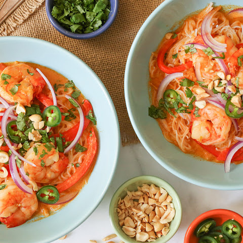Thai Red Curry with Shrimp and Rice Noodles