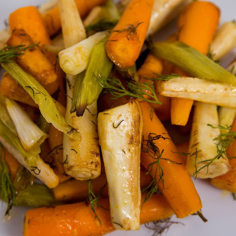 Herb Roasted Carrots, Parsnips and Green Onions