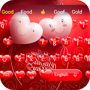pink Valentine's Day Heart Theme Keyboard