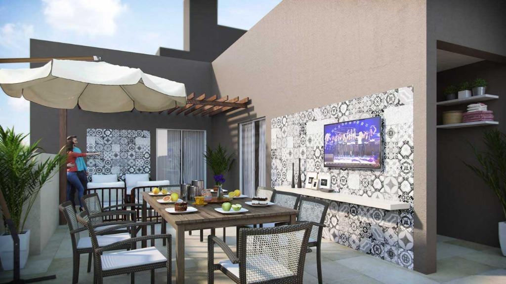Cobertura à venda em Messejana, 123,15m2, 3 quartos, 2 suítes, lazer completo, em construção.