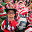 Supporters by Nicu Buculei - News & Events Sports ( football, supporter, stripes, crowd, people, soccer, red, white, pwc87,  )