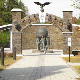 Walk of Heroes Monument by David Jarrard - Buildings & Architecture Statues & Monuments ( marine, army, navy, soldiers memorial conyers georgia )