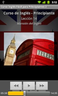 Audio Curso Inglés Fácil 2 - screenshot