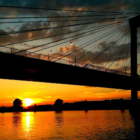Sunset over the bridge..... :-) by Ana Wisniewska - Instagram & Mobile Android