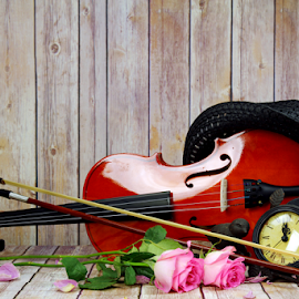 Violin by Dipali S - Artistic Objects Musical Instruments ( concert, baroque, silhouette, orchestra, object, symphony, viola, performance, melody, musician, cello, closeup, symphonic, key, black, music, isolated, musical, symbol, beautiful, art, instrument, violin, classical, string, background, artistic )