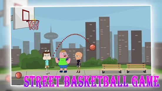 Street basketball game - screenshot