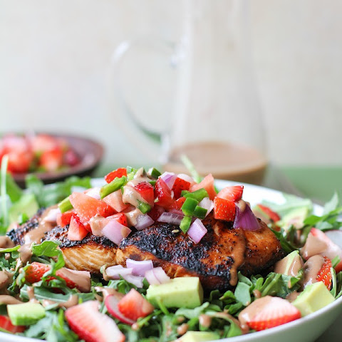 Grilled Salmon with Strawberry Salsa