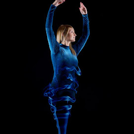 by Gabriel Talbot - Digital Art People ( incense, blue, woman, ballet )