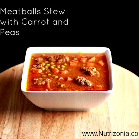 Meat Balls Stew with Carrot and Peas