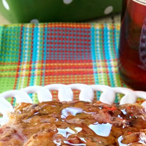 Breakfast Cake with Hot Maple Syrup