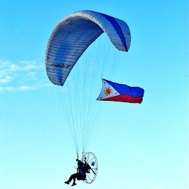 My Philippines by Say Bernardo - Sports & Fitness Other Sports ( paragliding, hot air balloon festival, flag, philippines, air show )