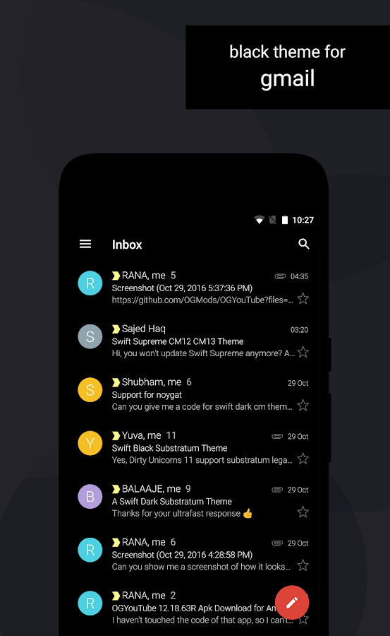 Swift Black Substratum Theme Screenshot 6
