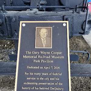 The Gary Wayne Cooper Memorial Railroad Museum Park Pavilion Dedicated on April 7, 2016 For his many years of faithful service to the city and his undaunting preservation of the history of his ...