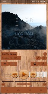 Poweramp v3 skin wood Screenshot