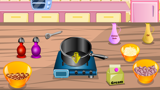 girls games cooking fast food - screenshot