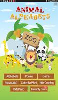 Screenshot of Animal Alphabets ABC Poem Kids