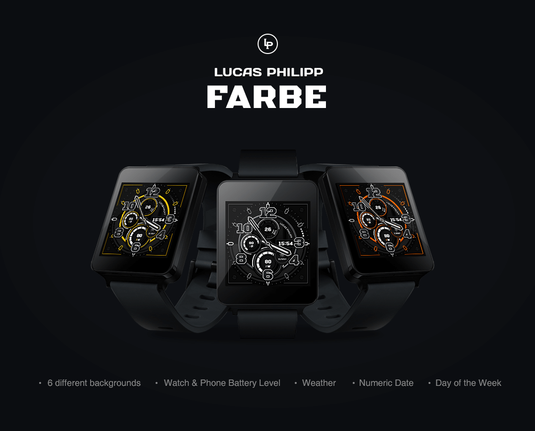 Farbe watchface by LucasPhilip Screenshot 8