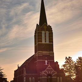Early Morning  by Jeff Brown - Buildings & Architecture Places of Worship ( building, catholic, chruch )