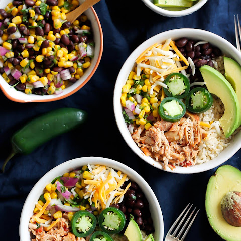 Better Than Chipotle DIY Chicken Burrito Bowls