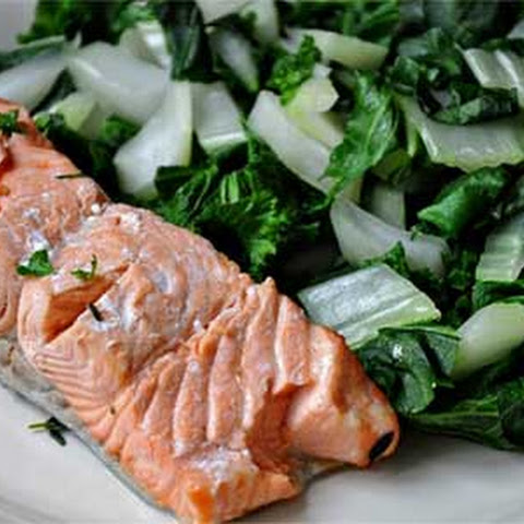 Simple and Healthy Steamed Salmon with Greens