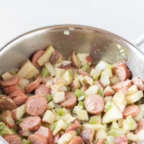 Potato, Peppers and Kielbasa Skillet