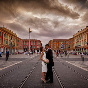 Massena by Philippe Grosvald - Wedding Bride & Groom ( wedding on french riviera, wedding in nice, mariage à nice )