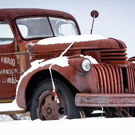 Retired II by Jebark Fineartphotography - Transportation Other ( winter, vintage, ruined, truck, snow, rusty, transportation, antique )