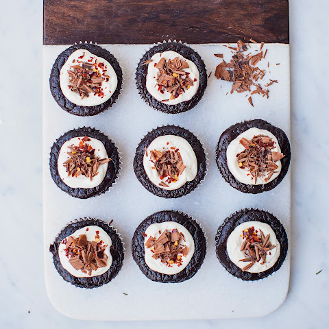 Gluten-Free Chocolate-Chile Cakes