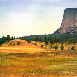 Devils Tower,analog photography by Stanley P. - Landscapes Travel ( travel photography )
