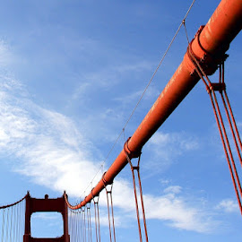 ABSTRACTION OF GOLDEN GATE BRIDGE by Jody Frankel - Buildings & Architecture Bridges & Suspended Structures