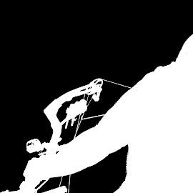 Sin City Archer by Daryl Peck - Digital Art People ( archer, black and white, archery, white, bow, digital, black )