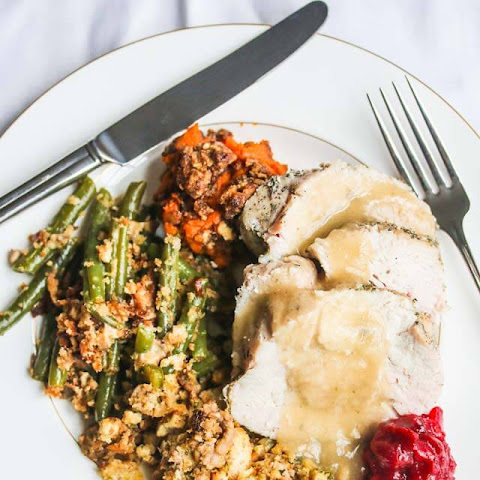 Brined Sous Vide Turkey with Sage Spice Rub