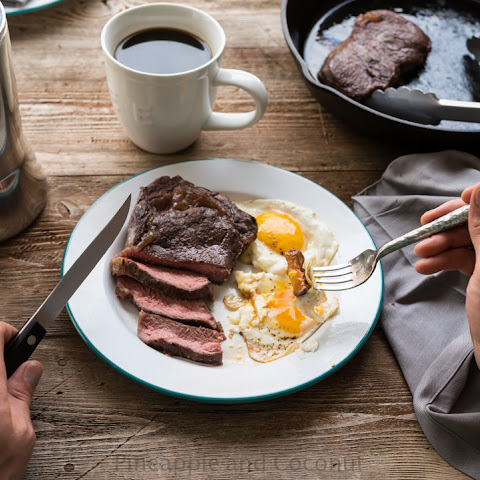 how to make stake and eggs