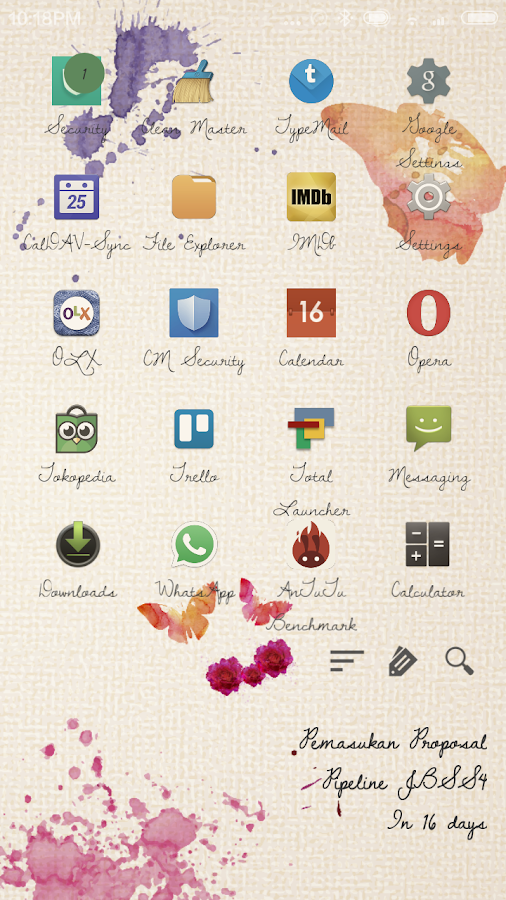 Leparis Theme Total Launcher Screenshot 1